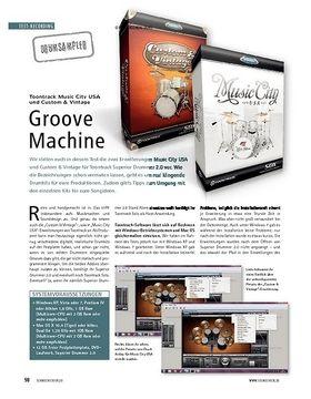 Test: Toontrack Music City USA und Custom & Vintage - Groove Machine