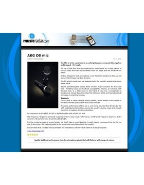 AKG D5 mic
