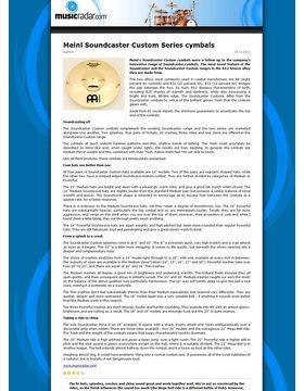 Meinl Soundcaster Custom Series cymbals
