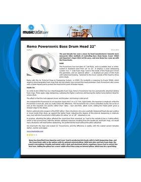 Remo Powersonic Bass Drum Head 22