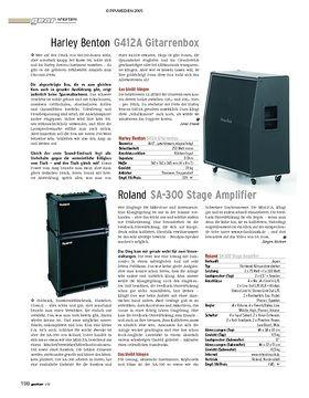 Shorties: getyourtone, Roland SA-300, Harley Benton G412A Gitarrenbox