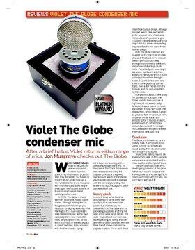 Violet The Globe Condenser mic