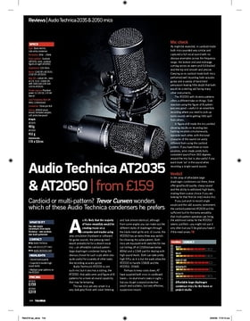 Audio Technica AT2035 and AT2050