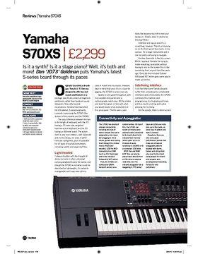 Yamaha S70XS