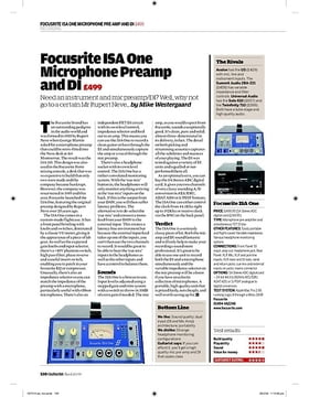 Focusrite ISA One Microphone Preamp and DI