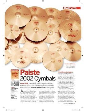 Paiste 2002 Cymbals