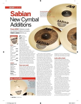 Sabian New Cymbal Additions