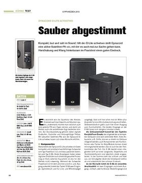 Test: Dynacord D-Lite activetwo - Sauber abgestimmt