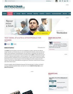 Test: BOSS, ST-2 & PS-6, Effektpedale für Gitarre