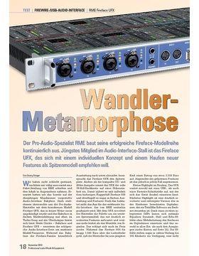 Wandler- Metamorphose: RME Fireface UFX