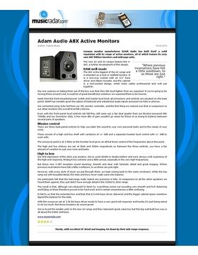 Adam Audio A8X Active Monitors