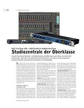 RME Fireface UFX - USB/FireWire-Audiointerface