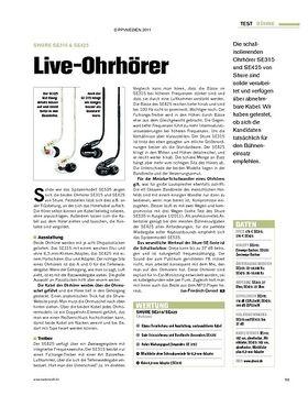 Test: Shure SE315 & SE425 - Live-Ohrhörer