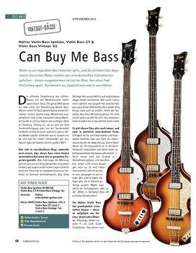 Test Vintage-Bässe: Höfner Violin Bass Ignition, Violin Bass CT