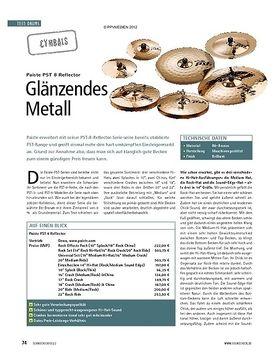 Test Cymbals: Paiste PST 8 Reflector
