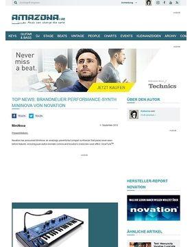 Top News: Brandneuer Performance-Synth MiniNova von Novation