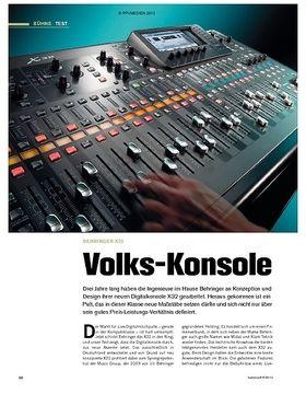 Test: Behringer X32 - Volks-Konsole