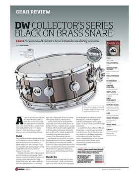 DW COLLECTOR'S SERIES BLACK ON BRASS SNARE