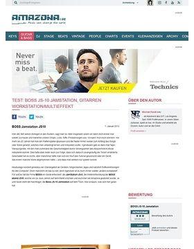 Test: Boss JS-10 Jamstation, Gitarren Workstation/Multieffekt