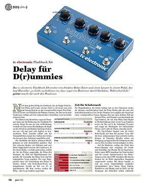 gear Effekte - tc electronic Flashback X4