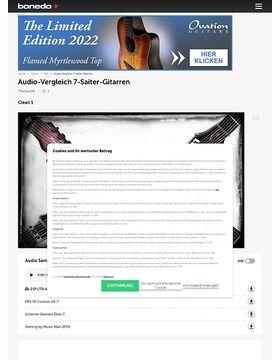 Audio-Vergleich 7-Saiter-Gitarren