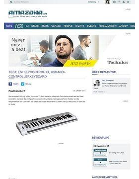 Test: ESI Keycontrol XT, USB/MIDI-Controllerkeyboard