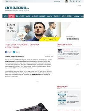 Test: Line6 POD HD500X, Gitarren Effektgerät