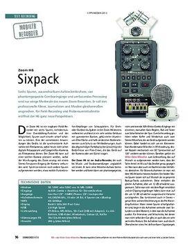 Zoom H6 - Sixpack