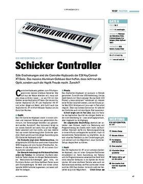 Test: ESI KeyControl 61 XT - Schicker Controller