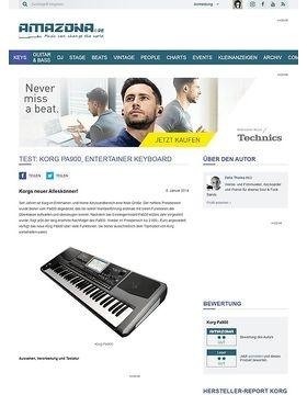 Test: Korg Pa900, Entertainer Keyboard