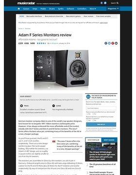 Adam F Series Monitors