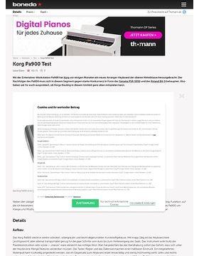 Korg Pa900 Test