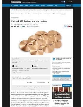 Paiste PST7 Series cymbals