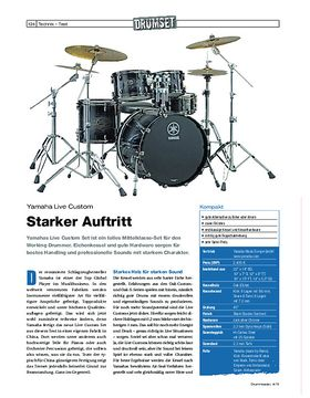 Test Yamaha Live Custom Drumset