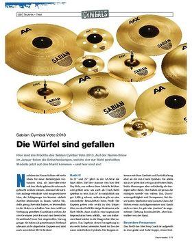 Test Sabian Cymbal Vote 2013 Gewinner