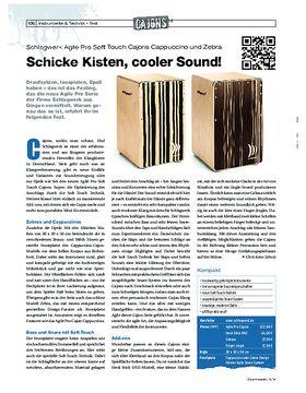 Schlagwerk Agile Pro Soft Touch Cajons Cappuccino und Zebra