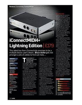 iConnectMIDI4+ Lightning Edition