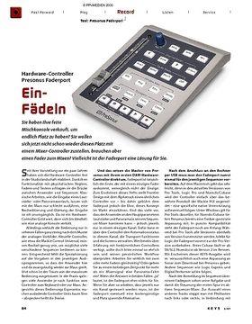 Test: Presonus Faderport Hardware-Controller