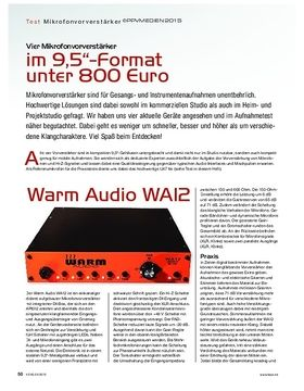 Mic Preamps im 9,5 Zoll Format unter 800 Euro