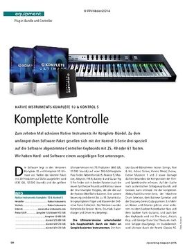 Native Instruments Komplete 10 & Kontrol S