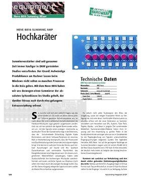 Hochkaräter – Neve 8816 Summing Amp