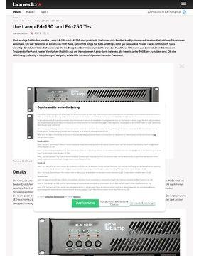 the t.amp E4-130 und E4-250