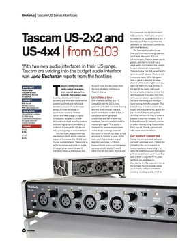 Tascam US-2x2 and US-4x4