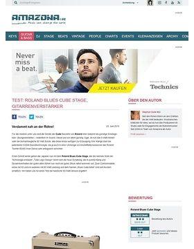 Test: Roland Blues Cube Stage, Gitarrenverstärker
