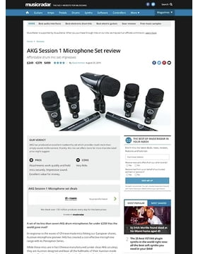 AKG Session 1 Microphone Set