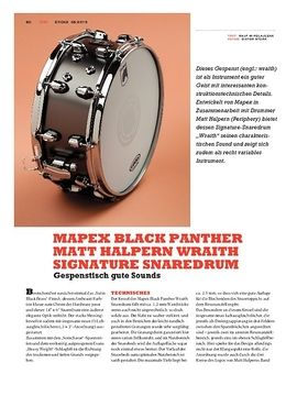 Mapex Black Panther Matt Halpern Wraith Signature Snaredrum