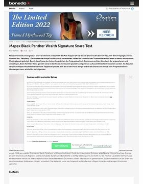 Mapex Black Panther Wraith Signature Snare