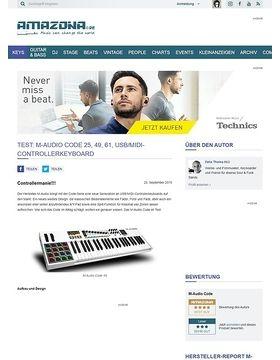 Test: M-Audio Code 25, 49, 61, USB/MIDI-Controllerkeyboard