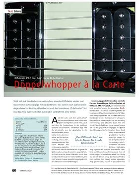Test: DiMarzio PAF Joe, Mo' Joe & D-Activator – Doppelwhopper à la Carte