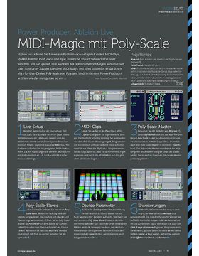 Ableton Live - MIDI-Magic mit Poly-Scale